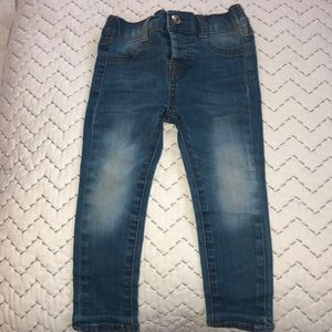 Darling faded fashion toddler jeans